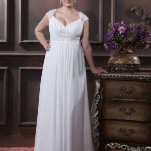 Plus size empire esküvői ruha