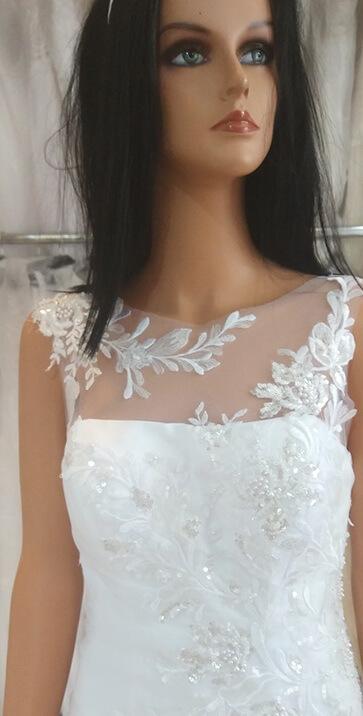 Karcsúsított, organza menyasszonyi ruha 1