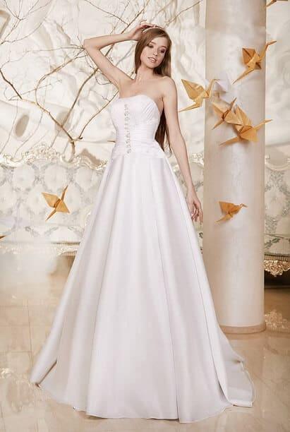 Akciós, szatén menyasszonyi ruha