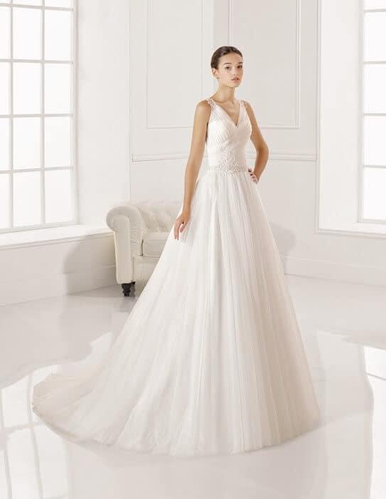 Vállpántos, tüll, Rosa Clara esküvői ruha