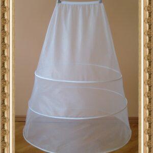 3 karikás menyasszonyi abroncs, alsószoknya