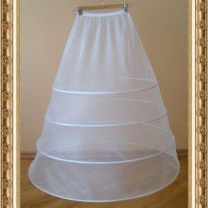 4 karikás menyasszonyi alsószoknya, abroncs