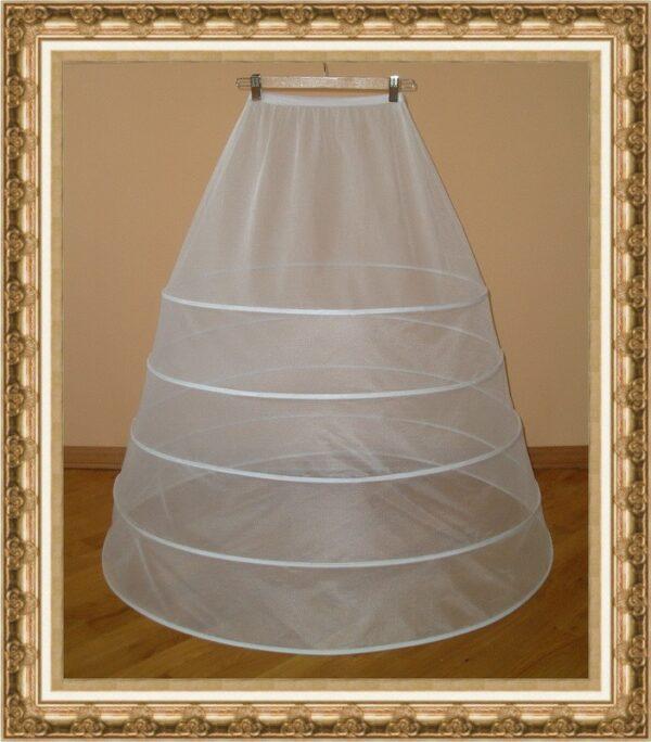 5 karikás menyasszonyi alsószoknya, abroncs