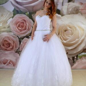 Kristály díszítéses szalagavató ruha, báli ruha