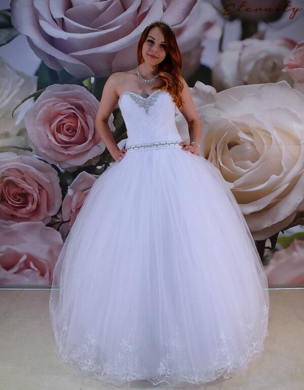 Kristály díszítésű szalagavató ruha, báli ruha