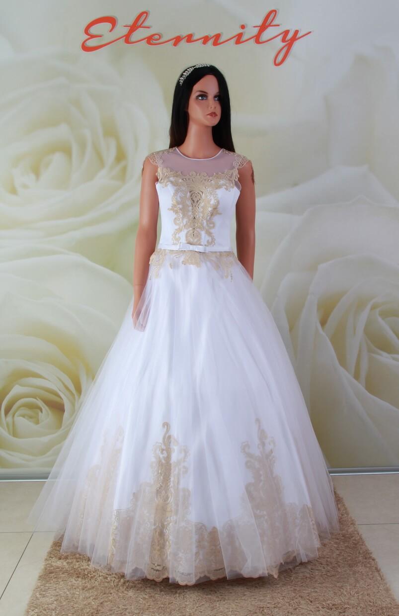 0064a02ebd Arany, A-vonalú alkalmi ruha, menyasszonyi ruha