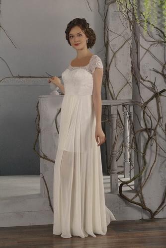 0120dae63a Egyenes, tört fehér, csipke és chiffon alkalmi ruha, menyasszonyi ruha