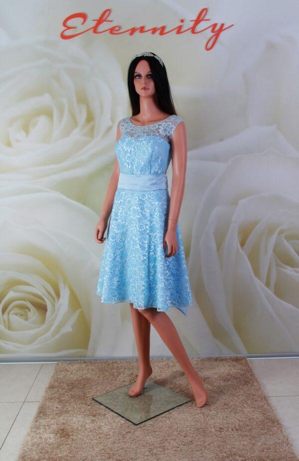 Kék csipke alkalmi ruha