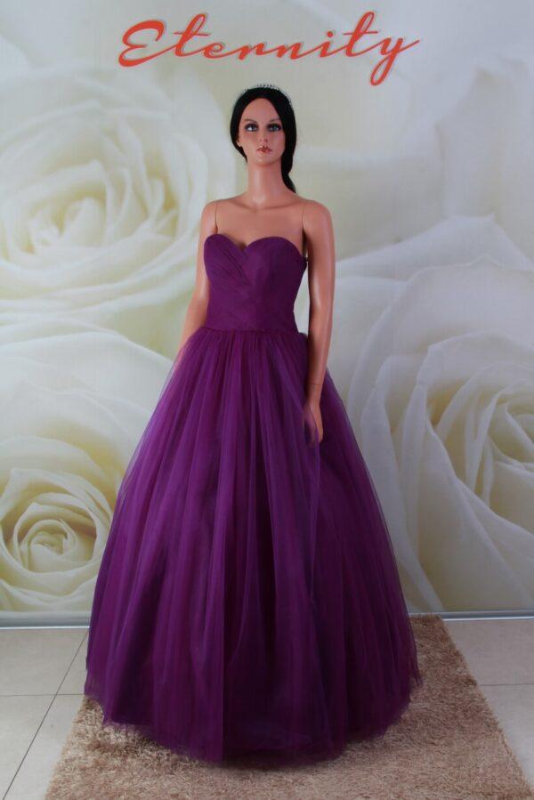 Lila színű, báli fazonú alkalmi ruha