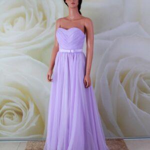 Lila, egyenes, alkalmi ruha, koszorúslány ruha