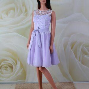 Lila, chiffon alkalmi ruha, koszorúslány ruha