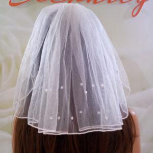 Rövid strasszos menyasszonyi fátyol