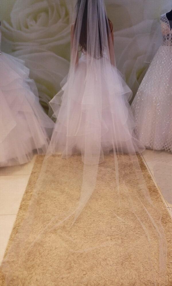 Fehér menyasszonyi fátyol
