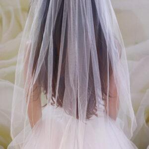 1 rétegű tüll menyasszonyi fátyol