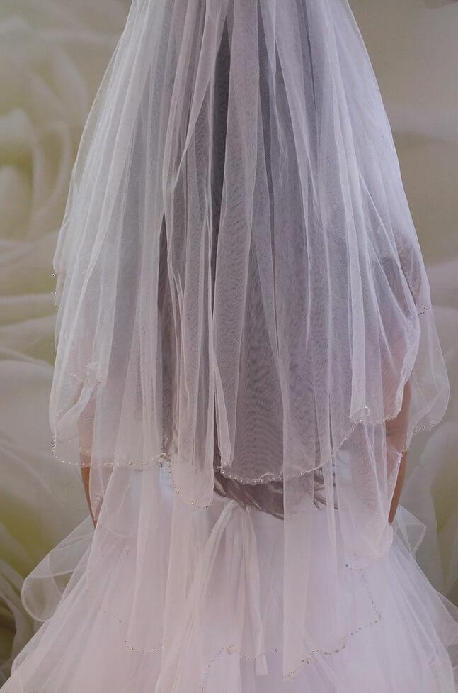39cc9d08b5 Menyasszonyi fátyol 6. 2 rétegű kristályos tüll menyasszonyi fátyol