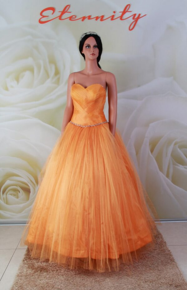 Narancssárga alkalmi ruha