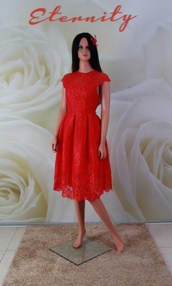 Piros csipke alkalmi ruha, menyecske ruha