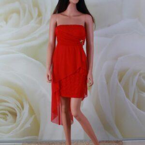 Elöl rövid-hátul hosszú alkalmi ruha, menyecske ruha