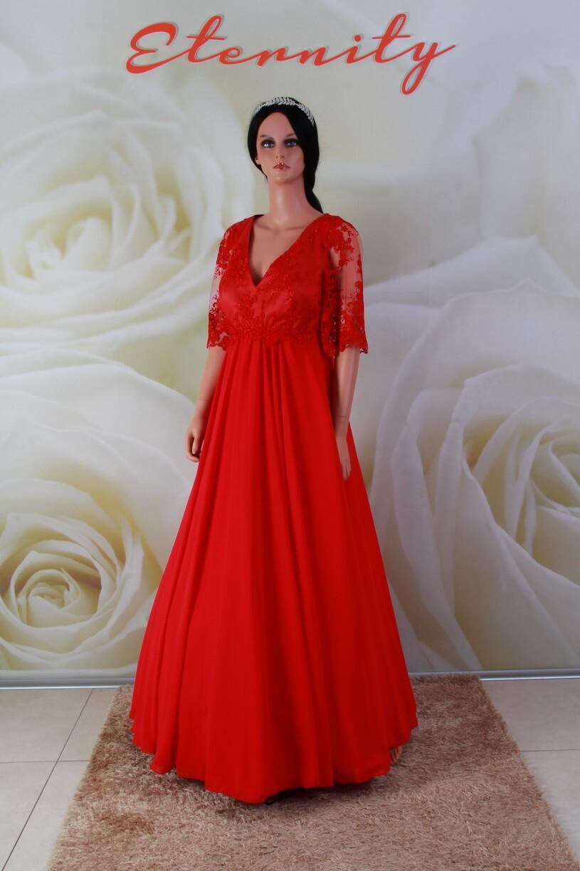289eb3f052 Piros, csipke és chiffon alkalmi ruha, menyecske ruha