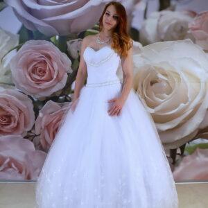 Gyöngy díszítésű szalagavató ruha, báli ruha