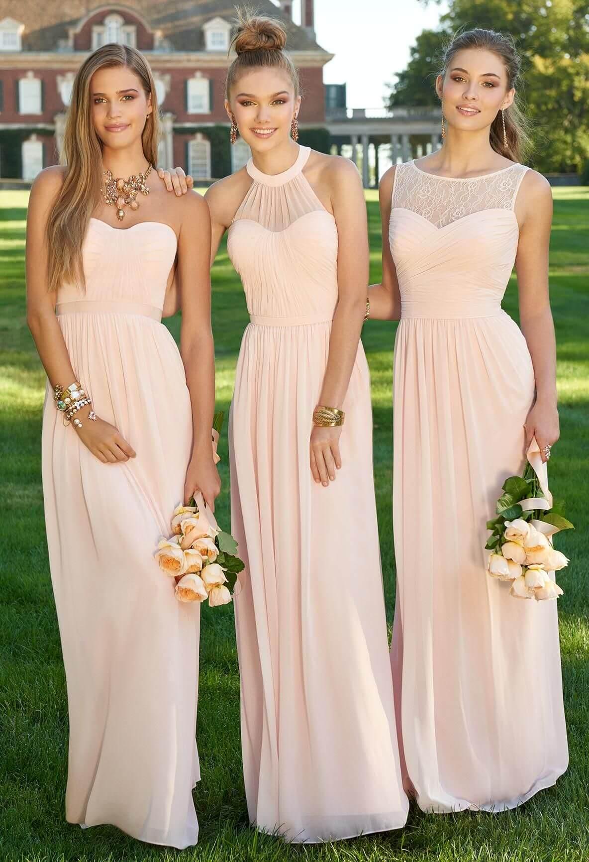 Színes, hosszú-rövid koszorúslány ruhák