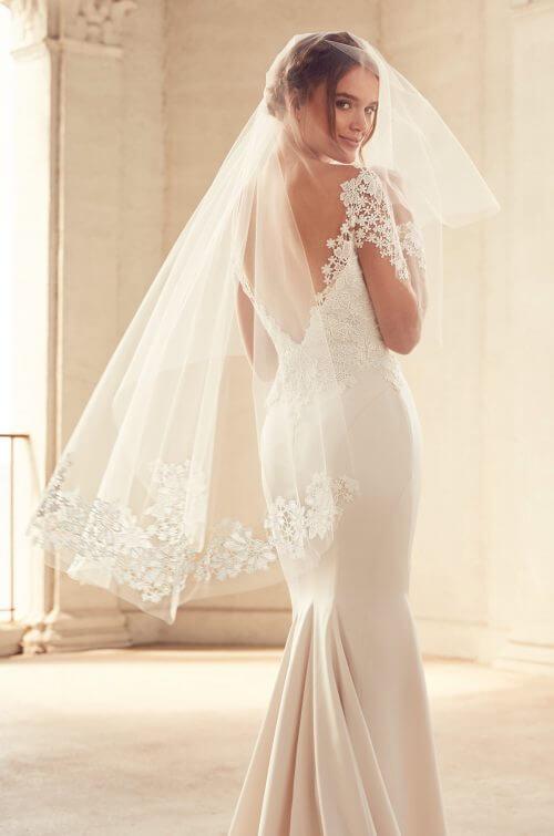 Menyasszonyi fátyol, rövid, hosszú, kristályos, csipkés