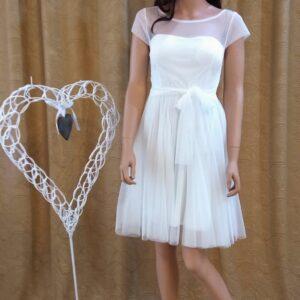 Rövid tüll alkalmi, menyasszonyi ruha1