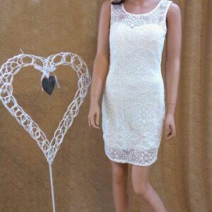 Rövid zárt csipke alkalmi menyasszonyi ruha2