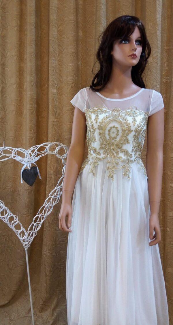 Tea hosszú alkalmi-menyasszonyi ruha