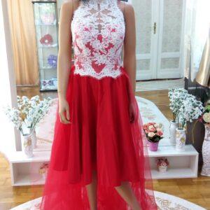 Piros, fehér nyakpántos menyecske ruha 1