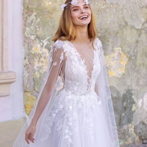 Fehér tüllös menyasszonyi ruha1