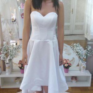 High low selyemszatén rövid menyasszonyi ruha 1