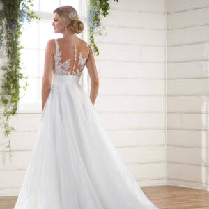 Illúzió tüllös A vonalú menyasszonyi ruha 1