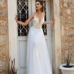 Lágy esésű tüll menyasszonyi ruha 2