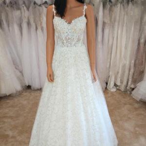 Light karamell csipke menyasszonyi ruha