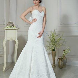 Csipke, sellő menyasszonyi ruha 1