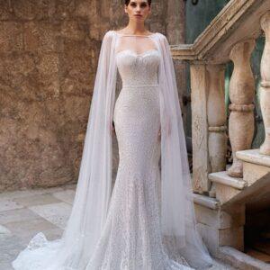 2 részes, karcsúsított menyasszonyi ruha 1